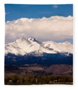 Twin Peaks Snow Covered Fleece Blanket
