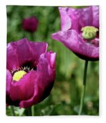 Twin Poppies Fleece Blanket