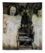 Twins Julia And Jim Cannon Circa 1903 Fleece Blanket