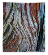 Twisted Colourful Wood Fleece Blanket