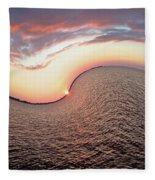 Twisted Sunset Fleece Blanket