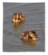 Two Baby Ducklings Fleece Blanket
