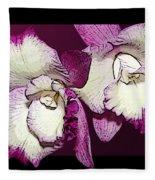 Two Baby Orchids Fleece Blanket
