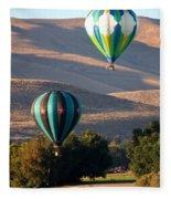 Two Balloons In Morning Sunshine Fleece Blanket