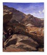Two Bandits In The Hills, 1857 Fleece Blanket