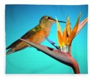 Two Birds Of Paradise Fleece Blanket