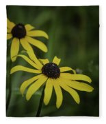 Two Black Eyes On The Macomb Orchard Trails Fleece Blanket