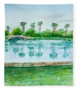 Two Bridges At Rainbow Lagoon Fleece Blanket