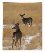 Two Bucks Fleece Blanket