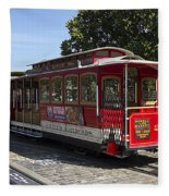 Two Cable Cars San Francisco Fleece Blanket
