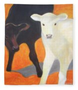 Two Calves Fleece Blanket