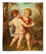Two Cherubs Fleece Blanket