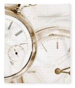 Two Clocks Fleece Blanket