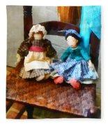 Two Colonial Rag Dolls Fleece Blanket