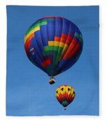 Two Colorful Balloons Fleece Blanket