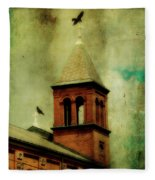 Two Crosses Two Crows Fleece Blanket