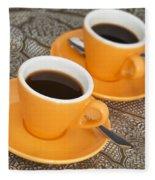 Two Cups Of Espresso Fleece Blanket