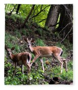 Two Deer Fleece Blanket