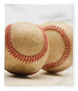 Two Dirty Baseballs Fleece Blanket