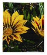 Two Flowers Fleece Blanket