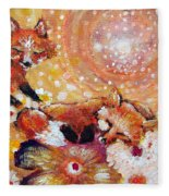 Two Foxes You Have A Friend In Me Fleece Blanket