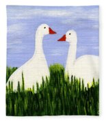 Two Geese Fleece Blanket
