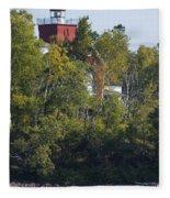 Two Harbors Mn Lighthouse 19 Fleece Blanket