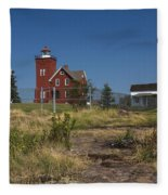 Two Harbors Mn Lighthouse 21 Fleece Blanket