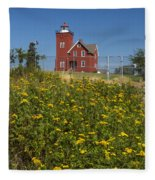 Two Harbors Mn Lighthouse 22 Fleece Blanket