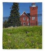 Two Harbors Mn Lighthouse 26 Fleece Blanket
