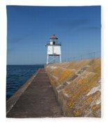 Two Harbors Mn Pier Light 10 Fleece Blanket