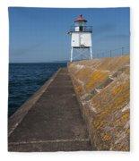 Two Harbors Mn Pier Light 11 Fleece Blanket