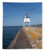 Two Harbors Mn Pier Light 8 Fleece Blanket