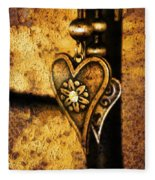 Two Hearts Together Fleece Blanket