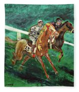 Two Horse Race Fleece Blanket