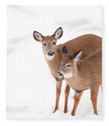 Two In The Snow Fleece Blanket