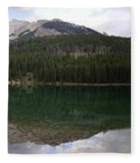Two Jack Lake Sunset - Banff Nat. Park, Alberta Fleece Blanket