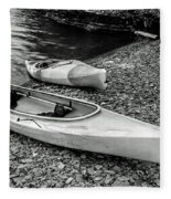 Two Kayaks On Seneca Lake Fleece Blanket