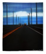 Two-lane Blacktop Fleece Blanket
