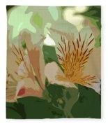 Two Lilies Cutout Fleece Blanket