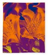 Two Lilies Gradient Fleece Blanket