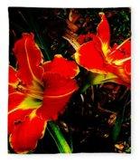 Two Lilies Fleece Blanket