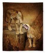 Two Lions Fleece Blanket