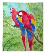 Two Macaws Fleece Blanket