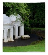 Two Meditating Cupolas In Fort Canning Park Singapore Fleece Blanket