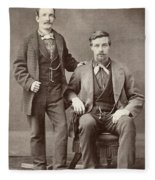 Two Men, 19th Century Fleece Blanket
