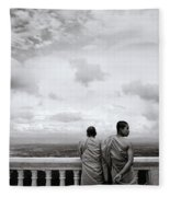 Two Monks Fleece Blanket