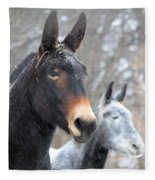 Two Mules For Sister Sara Fleece Blanket
