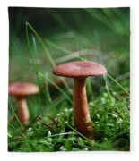 Two Mushrooms Fleece Blanket