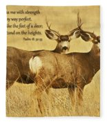 Two Of A Kind Fleece Blanket